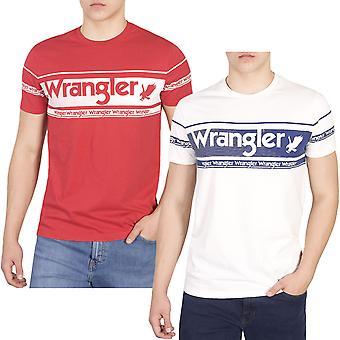 Wrangler Mens Repeat Short Sleeve Cotton Crew Neck Casual Summer T-Shirt Tee Top