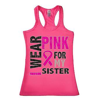 Kvinders Tank Top Breast Cancer Awareness jeg bære Pink For min søster