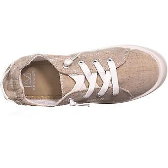 Material Girl MG35 Brooke Slip on Low Top Sneakers, Sand Canvas