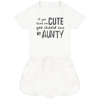 If You Think I'm Cute You Should See My Aunty Baby Playsuit