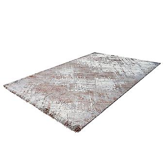 Rug HighFlor Modern Vintage Design Utilisé Look Soft Beige Grey White