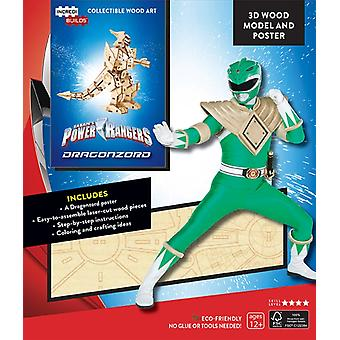 IncrediBuilds Power Rangers Dragonzord 3D Wood Model and P