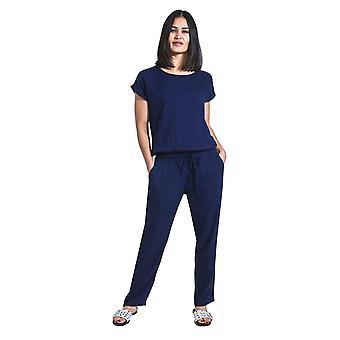 牡丹女士跳衣短袖 - 蓝色