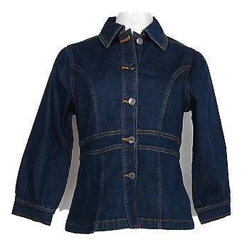 Du jour kvinner ' s Jacket denim m/puff ermer blå A367044