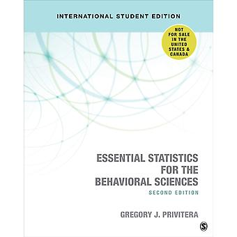 Essential Statistics for the Behavioral Sciences by G Privitera