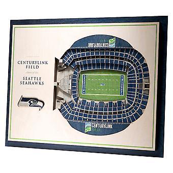 YouTheFan Wood Wall Decoration Stadium Seattle Seahawks 43x33cm
