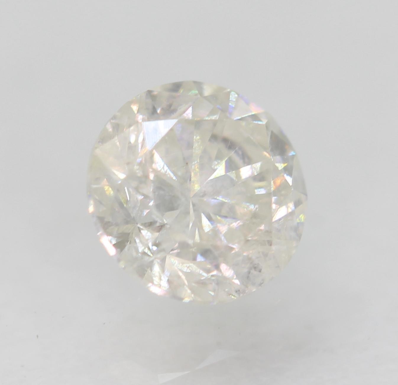 Certified 0.51 Carat F SI2 Round Brilliant Enhanced Natural Diamond 4.95m EX CUT
