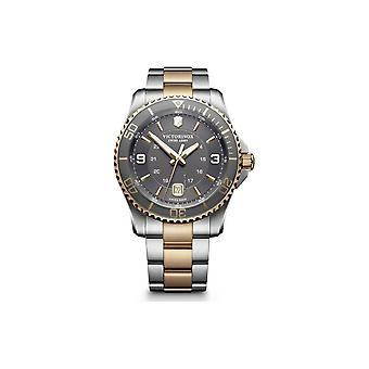 Victorinox Watch 241825-Maverick dois tons de prata e/dor e aço inoxidável/mostrador cinzento