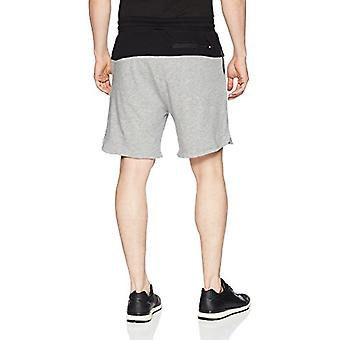 2(X)IST Men's Colorblock Short with Mesh Detail Shorts, Heather Grey/Black He...