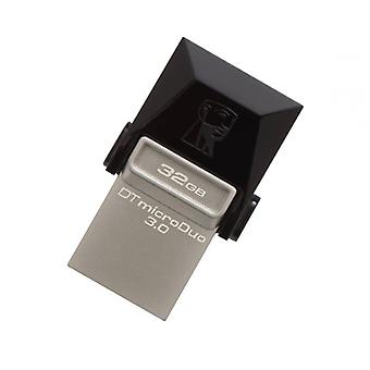 Kingston DTDUO3 32 GB USB flash drive e micro USB 3,0 preto cinza