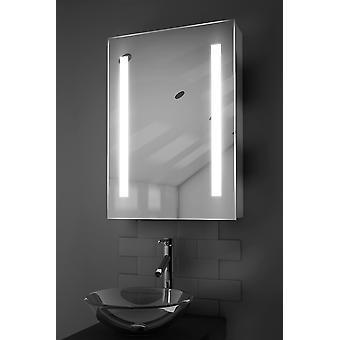 Jace LED kylpyhuoneen kaappi huurteenpoistolaitetta Pad, anturi & parranajokone k354