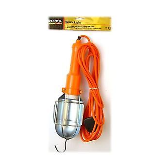 1 x Blackspur Mains Inspection Lamp DIY Hanging Hook Portable work light