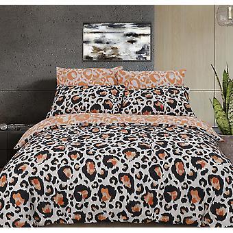 Große Leopard Print natürliche Bettwäsche Set