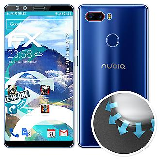 atFoliX 3x Protective Film compatible with ZTE Nubia Z17S Screen Protector clear&flexible