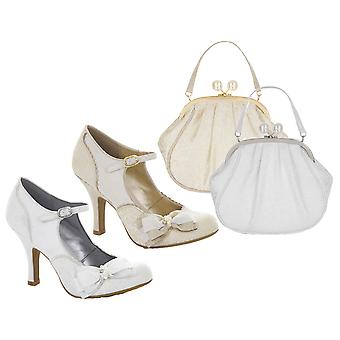 Ruby Shoo Women's Maria Mary Jane Pumps & Matching Arco Bag