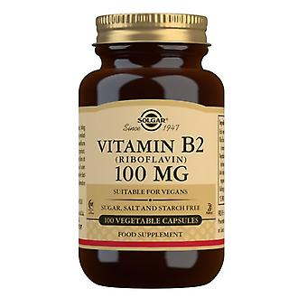 Solgar Vitamin B2 100mg Vegicaps 100 (3050)