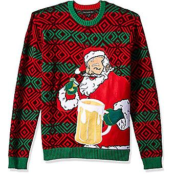 Blizzard Bay Men's Ugly Christmas Sweater Drink Pocket, Red, X-Large