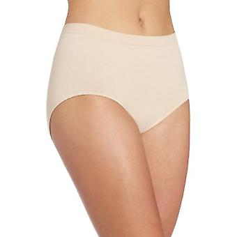 Bali Women's Comfort Revolution Seamless Brief Panty,Soft Taupe Stripe,6/7