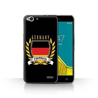 STUFF4 Caso/tampa para Vodafone Smart 6/Alemanha/alemão/futebol Ultra emblema