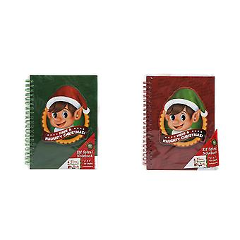 Christmas Shop Elf Spiral Notebook (60 sidor)