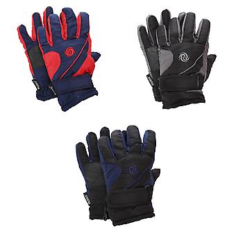 FLOSO Kids/Childrens Extra Warm Thermal Padded Ski Gloves With Palm Grip