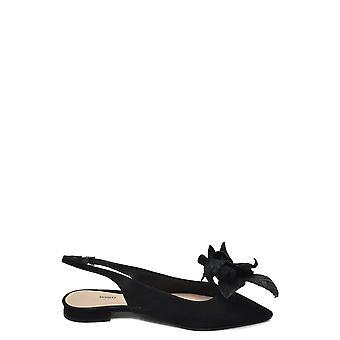 Schutz Ezbc080014 Women's Black Suede Sandals