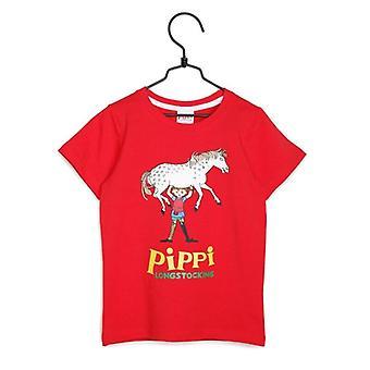 Pippi Longstocking T-shirt red