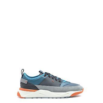 Santoni Mbi021204barraa Men's Multicolor Leather Sneakers