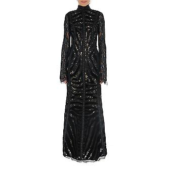Amen Couture Acw19505089 Women-apos;s Black Sequins Dress