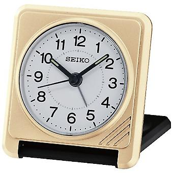 Seiko Travel Alarm Clock Plastic Analogue -  Gold (QHT015G)