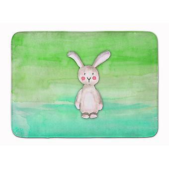 Bunny Rabbit Watercolor Machine Washable Memory Foam Mat