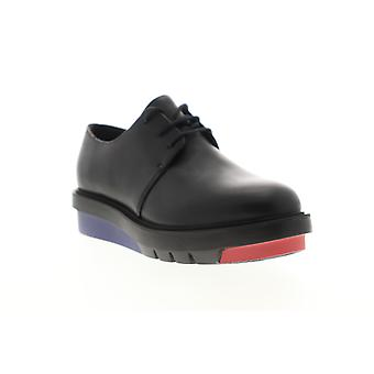 Camper Marta  Womens Black Leather Lace Up Flats Oxfords Shoes