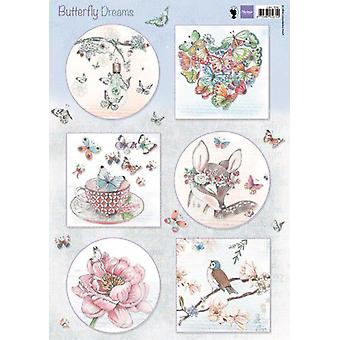 Marianne Design 3D Decoupage sheets Butterfly Dreams EWK1267 A4