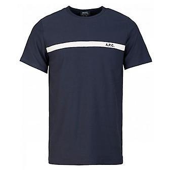 Apc Yukata Stripe Logo T-Shirt