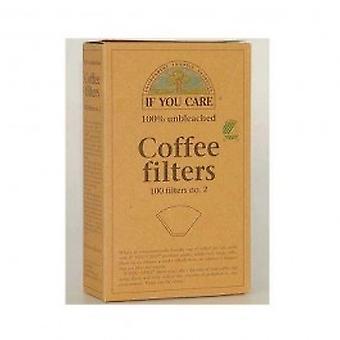 Si vous vous souciez - filtres à café n ° 4 100filters écrus