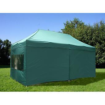 Vouwtent/Easy up tent FleXtents Xtreme 50 3x6m Groen, inkl. 6 Zijwanden