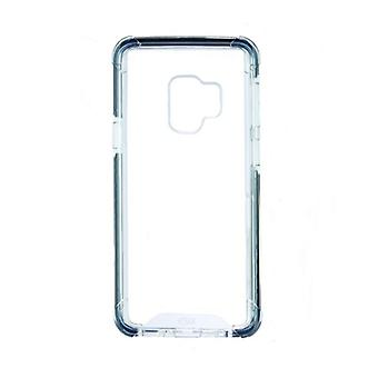 Mobiele cover Samsung Galaxy S9 KSIX Flex Armor TPU Polycarbonaat Zwart Transparant