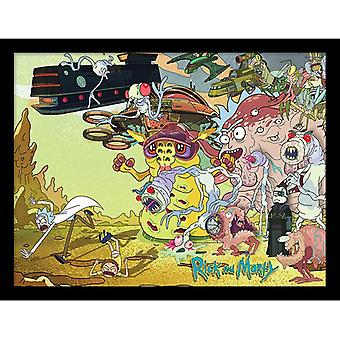 Rick et Morty Creature Barrage Framed Plate 30-40cm