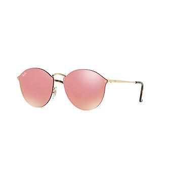 Ray-Ban Blaze RB3574N 001/E4 Guld / Rosa Spegel Solglasögon