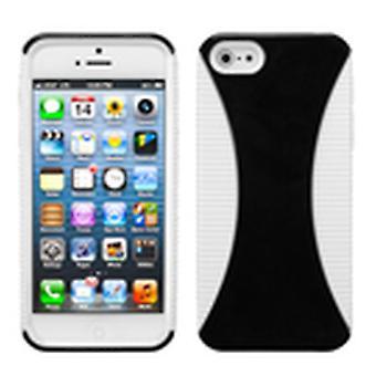 Asmyna Mixy puhelin kotelo Apple iPhone 5s / 5 - musta /valkoinen