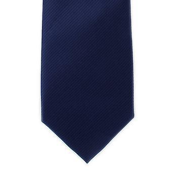 Michelsons af London almindelig Rib Polyester slips - Navy