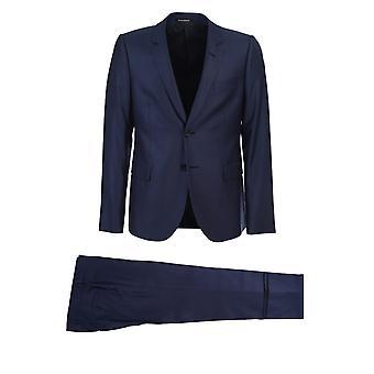 Emporio Armani 51v01e51125903 Männer's blau Wolle Anzug