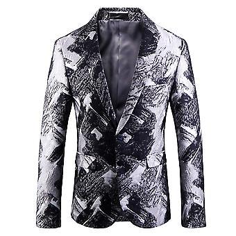 Cloudstyle Men's Blazer Cotton Slim Fit Suit Jacket