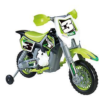 Motorcykel Feber Rider Cross 6 V Elektrisk Grön (82 X 57 x 119 cm)