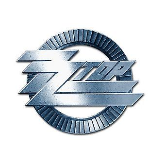 ZZ Top Pin badge Circle band Logo new Official Metal