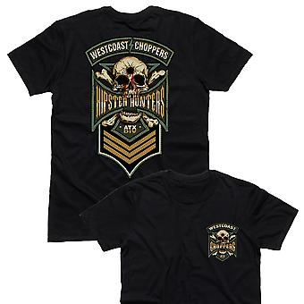 West Coast choppers mens T-Shirt hipster Hunter Black
