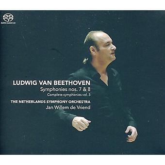 Netherlands Symphony Orchestra & Jan Willem De Vri - Beethoven:  Symphonies Nos. 7 & 8 [SACD] USA import