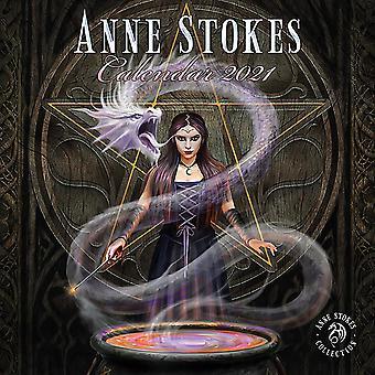 Calendrier d'Anne Stoke 2021 Calendrier officiel 2021, 12 mois, original version anglaise.