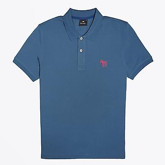 PS Paul Smith  - Embroidered Zebra Polo Shirt - Blue