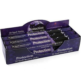 Bâtonnets d'encens éléments Protection Spell (boîte de 6 paquets)